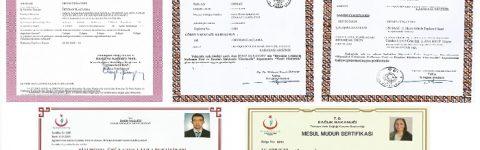 EK-1 BELGELİ RUHSATLI FİRMA